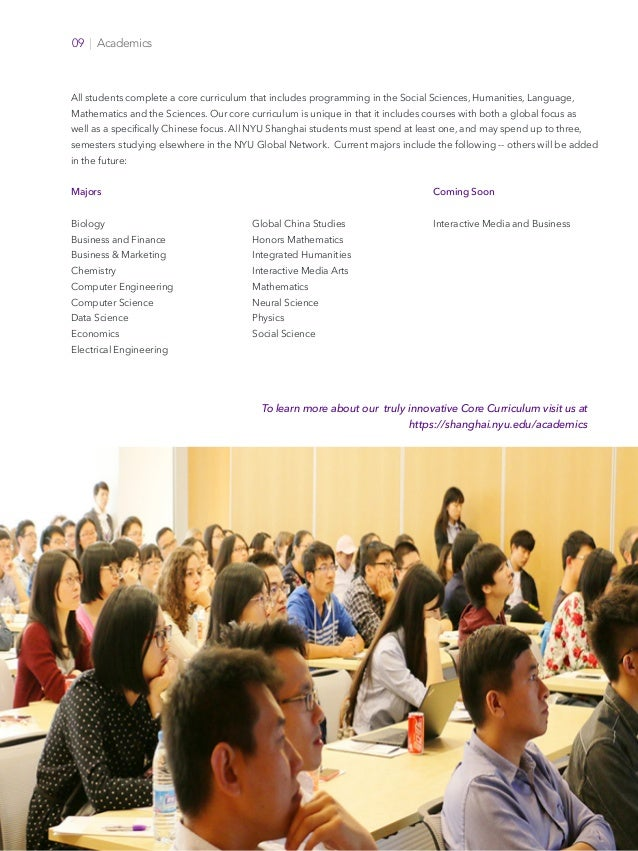 Offices of Faculty Affairs Faculty Recruitment NYU Shanghai New York University 09   Academics All students complete a cor...