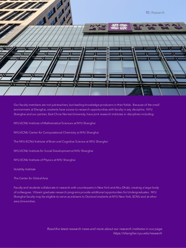 Offices of Faculty Affairs Faculty Recruitment NYU Shanghai New York University Our faculty members are not just teachers,...