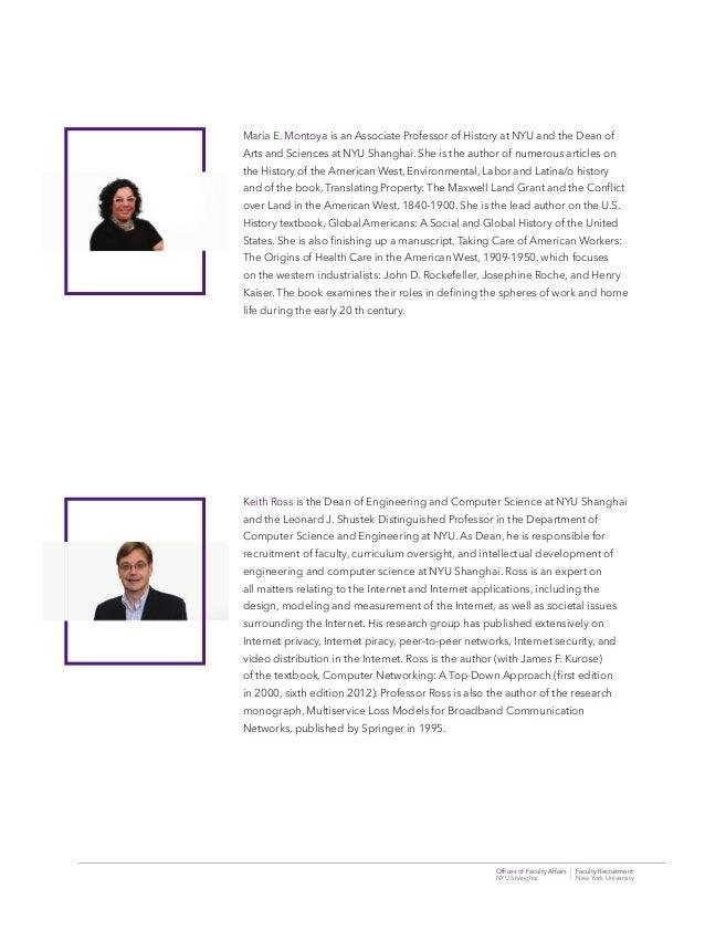 Offices of Faculty Affairs Faculty Recruitment NYU Shanghai New York University Maria E. Montoya is an Associate Professor ...