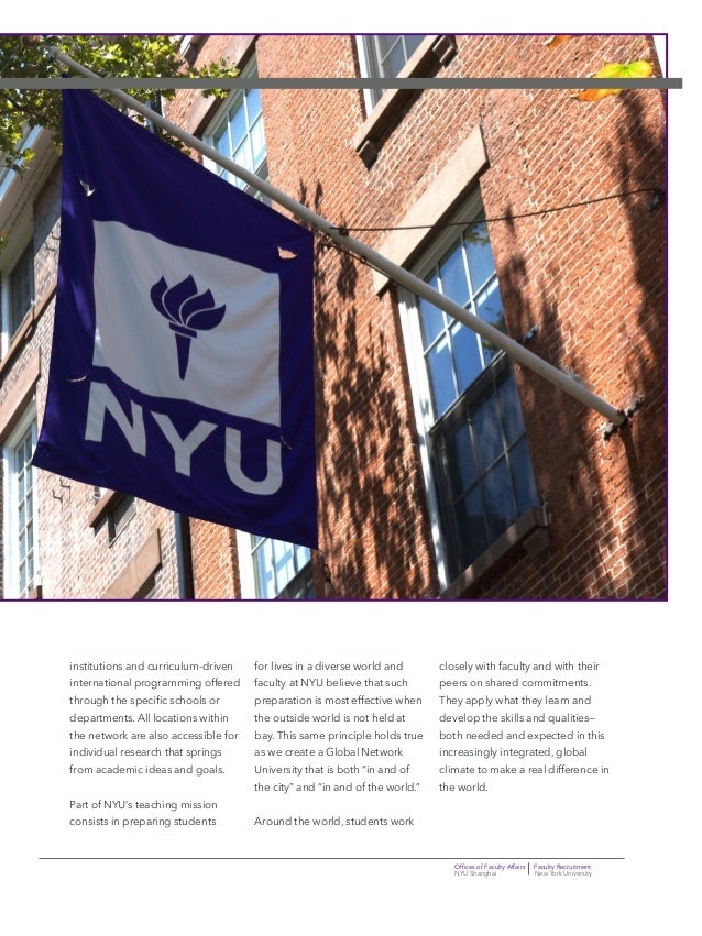 Offices of Faculty Affairs Faculty Recruitment NYU Shanghai New York University institutions and curriculum-driven interna...