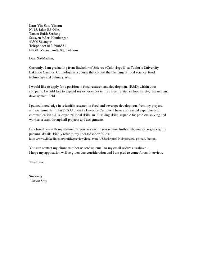 food scientist cover letter - Magdalene-project.org