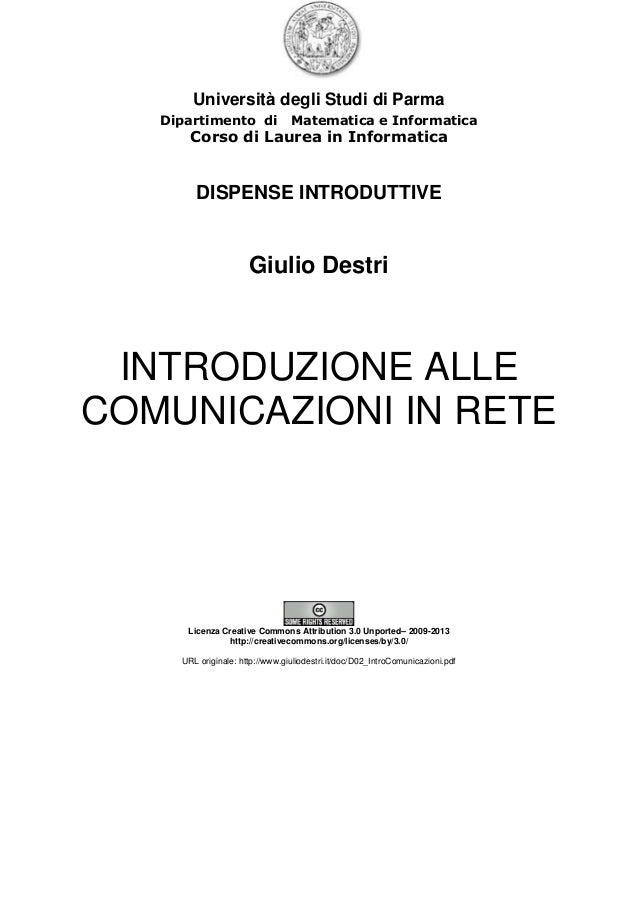 Università degli Studi di Parma Dipartimento di Matematica e Informatica Corso di Laurea in Informatica DISPENSE INTRODUTT...