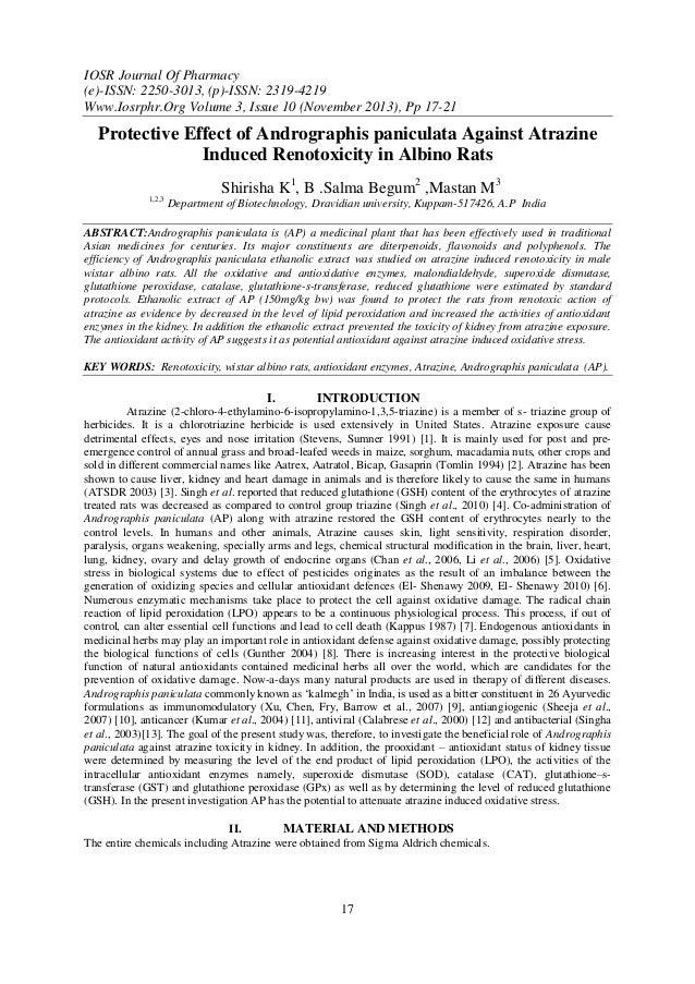 IOSR Journal Of Pharmacy (e)-ISSN: 2250-3013, (p)-ISSN: 2319-4219 Www.Iosrphr.Org Volume 3, Issue 10 (November 2013), Pp 1...