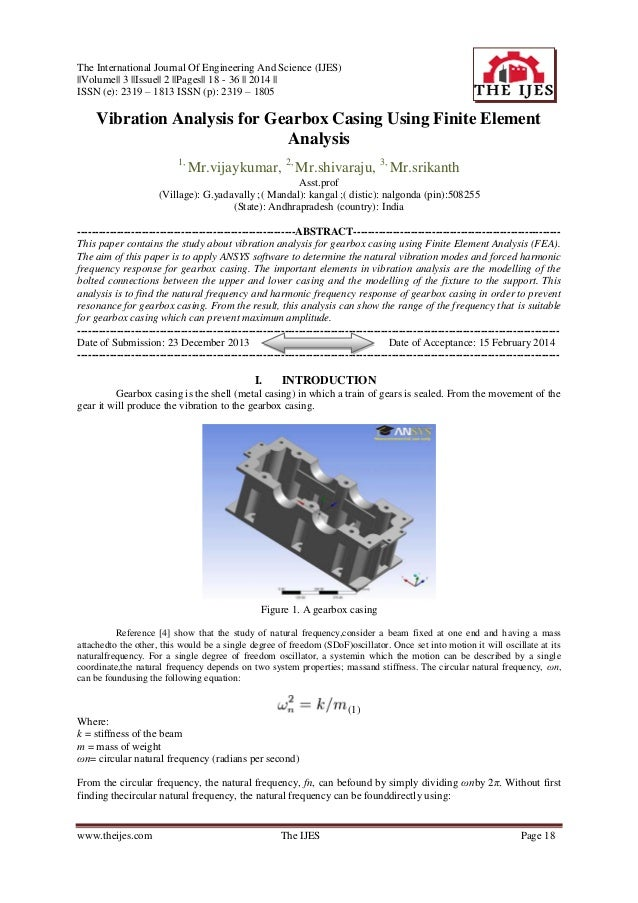 The International Journal Of Engineering And Science (IJES) ||Volume|| 3 ||Issue|| 2 ||Pages|| 18 - 36 || 2014 || ISSN (e)...