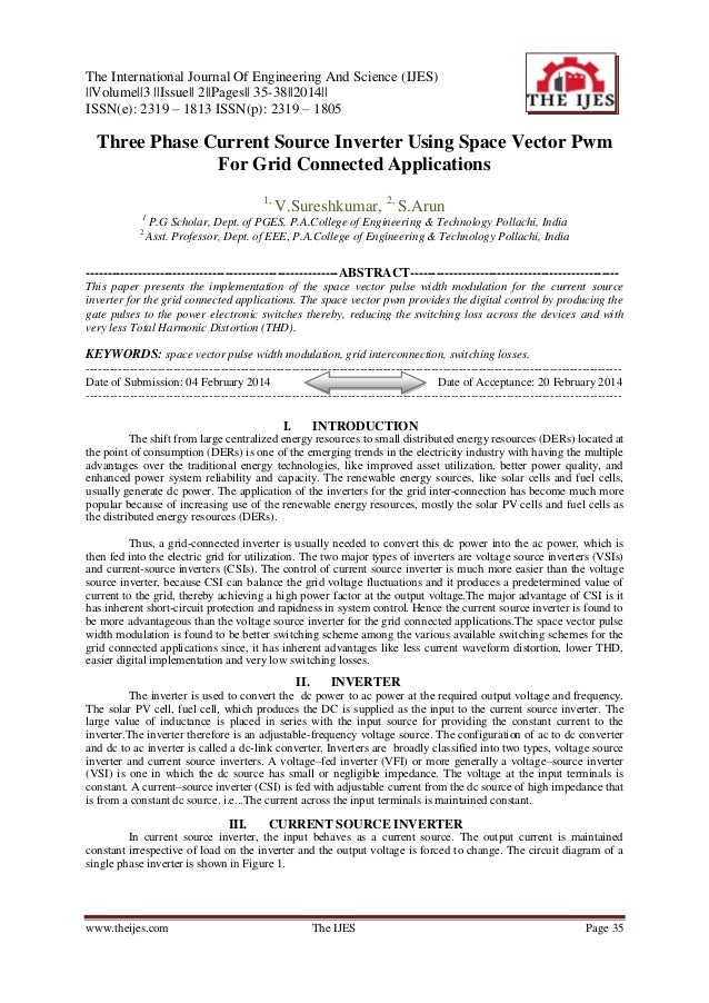 The International Journal Of Engineering And Science (IJES) ||Volume||3 ||Issue|| 2||Pages|| 35-38||2014|| ISSN(e): 2319 –...