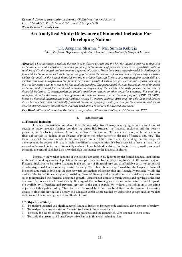 Research Inventy: International Journal Of Engineering And ScienceIssn: 2278-4721, Vol.2, Issue 6 (March 2013), Pp 15-20Ww...