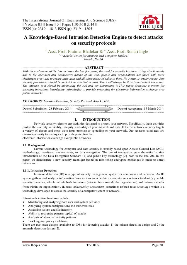 The International Journal Of Engineering And Science (IJES) || Volume || 3 || Issue || 3 || Pages || 30-36 || 2014 || ISSN...