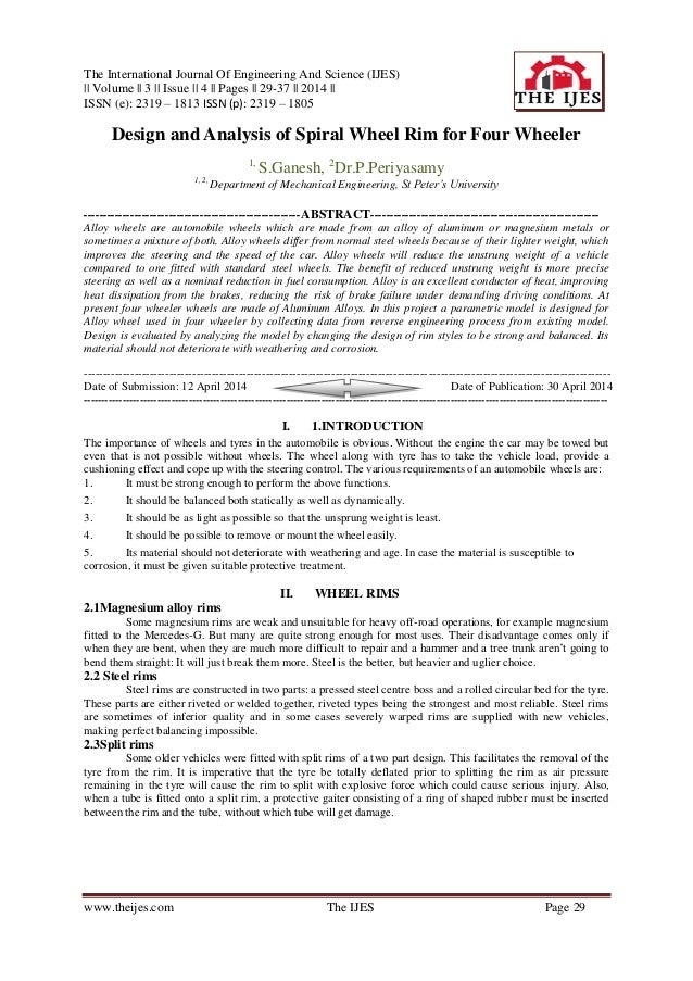 The International Journal Of Engineering And Science (IJES) || Volume || 3 || Issue || 4 || Pages || 29-37 || 2014 || ISSN...