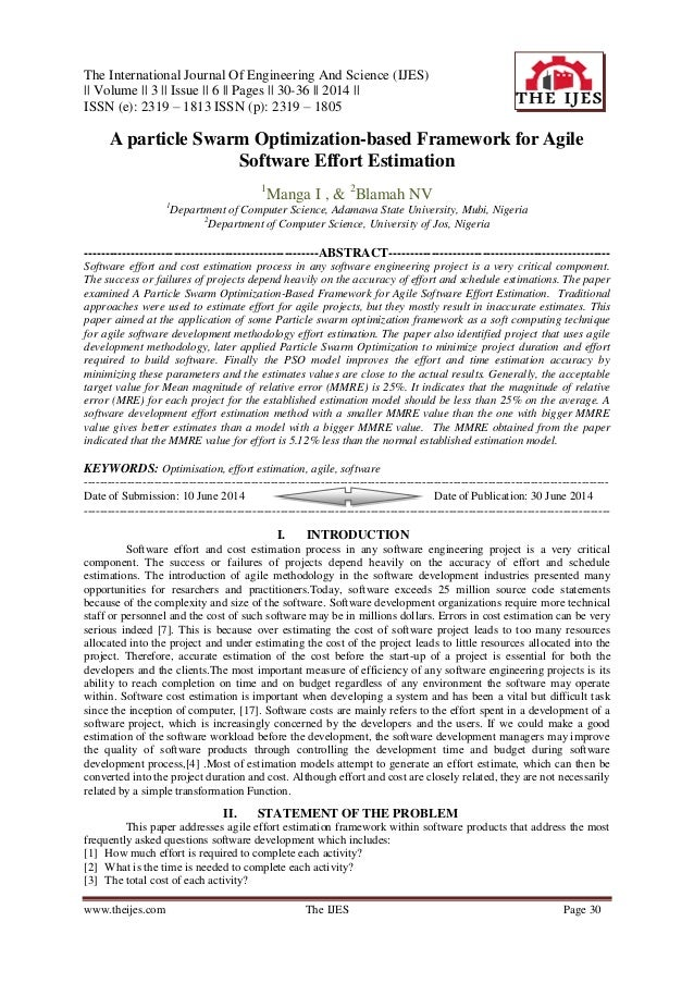 The International Journal Of Engineering And Science (IJES) || Volume || 3 || Issue || 6 || Pages || 30-36 || 2014 || ISSN...