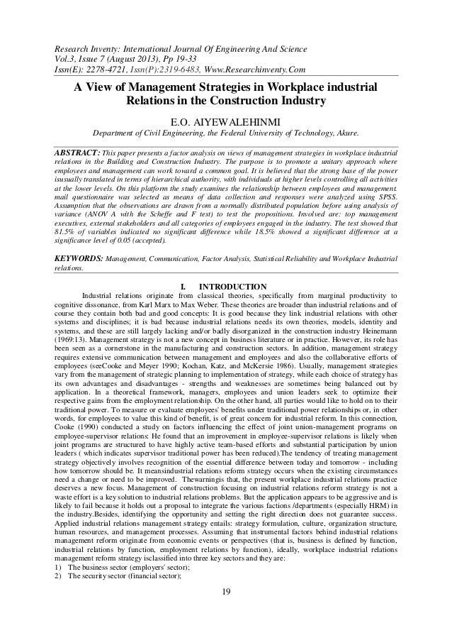 Research Inventy: International Journal Of Engineering And Science Vol.3, Issue 7 (August 2013), Pp 19-33 Issn(E): 2278-47...