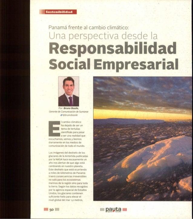 Panamá frente al cambio climático - Revista Pauta Julio 2015