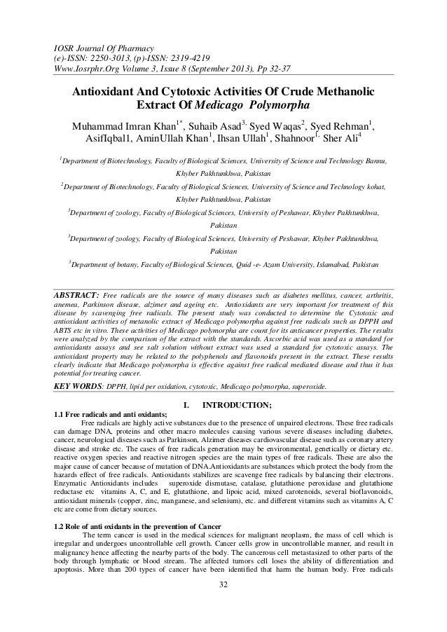 IOSR Journal Of Pharmacy (e)-ISSN: 2250-3013, (p)-ISSN: 2319-4219 Www.Iosrphr.Org Volume 3, Issue 8 (September 2013), Pp 3...
