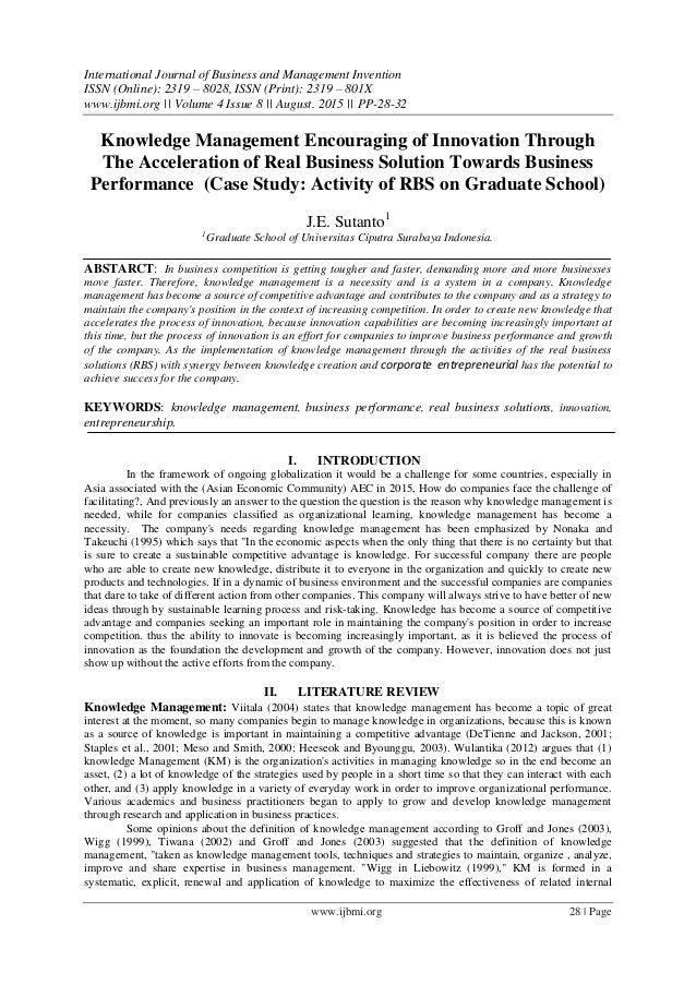 Knowledge management assignment case study with solution