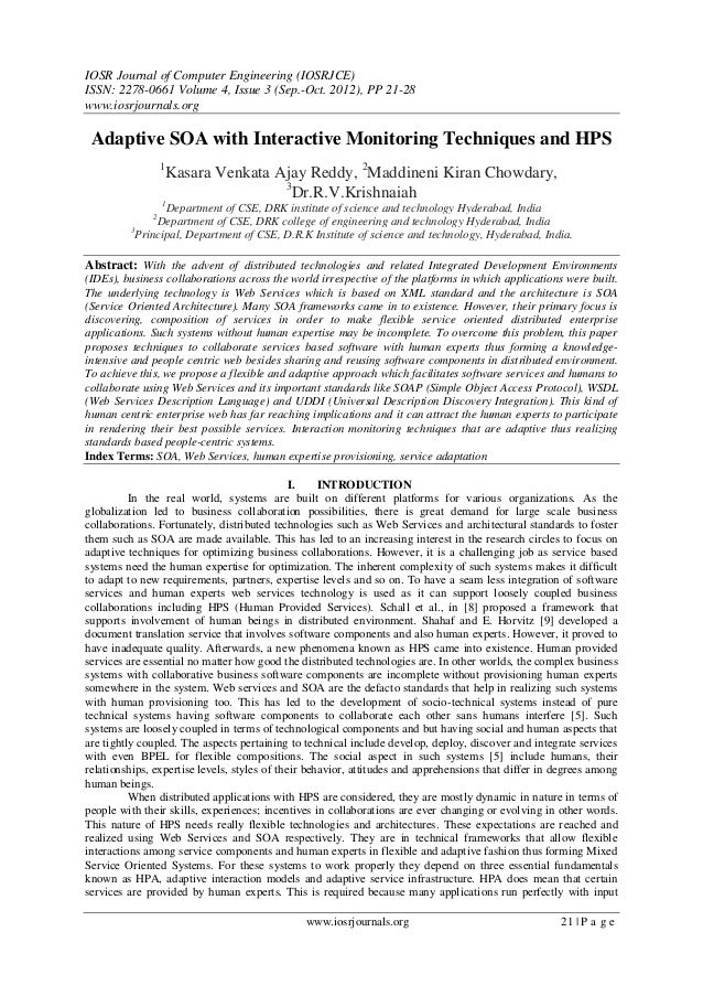 IOSR Journal of Computer Engineering (IOSRJCE) ISSN: 2278-0661 Volume 4, Issue 3 (Sep.-Oct. 2012), PP 21-28 www.iosrjourna...