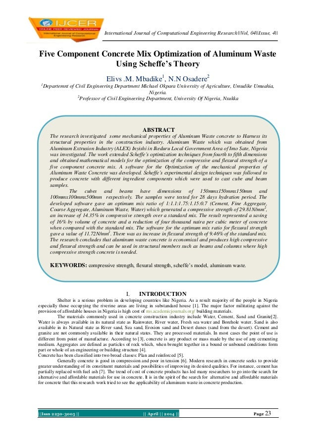 International Journal of Computational Engineering Research||Vol, 04||Issue, 4|| ||Issn 2250-3005 || || April || 2014 || P...