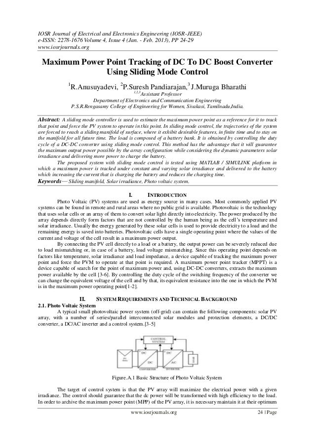 IOSR Journal of Electrical and Electronics Engineering (IOSR-JEEE)e-ISSN: 2278-1676 Volume 4, Issue 4 (Jan. - Feb. 2013), ...