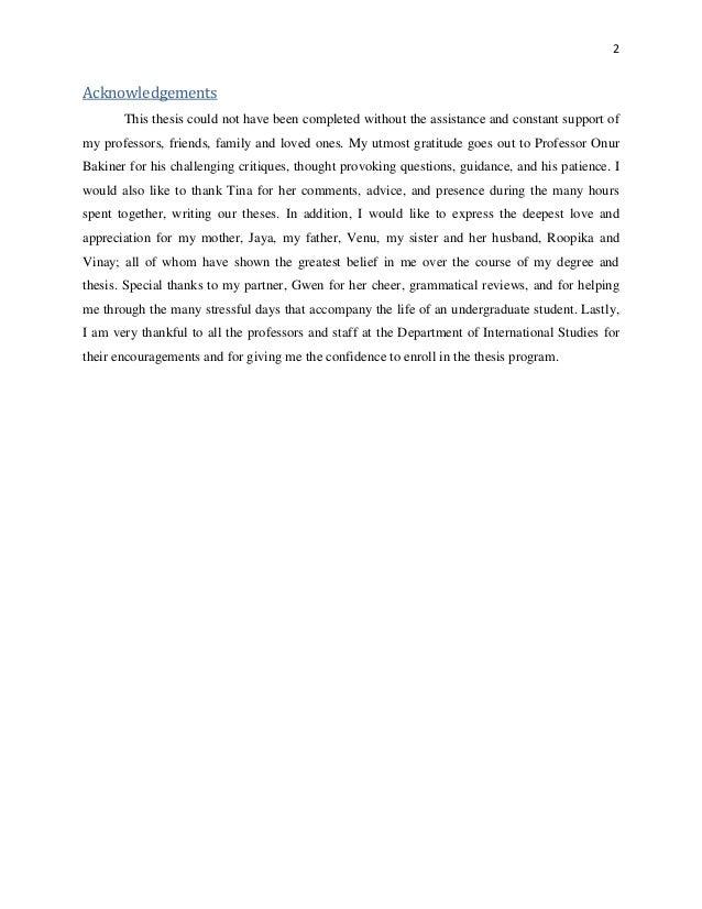 Honours thesis help