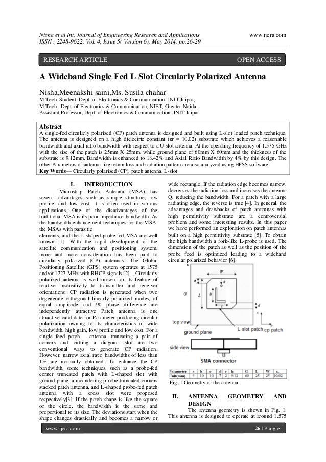 Nisha et al Int. Journal of Engineering Research and Applications www.ijera.com ISSN : 2248-9622, Vol. 4, Issue 5( Version...