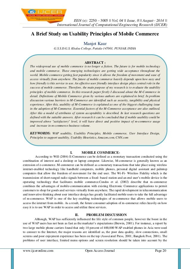 ISSN (e): 2250 – 3005    Vol, 04    Issue, 8    August– 2014     International Journal of Computational Engineering Resear...