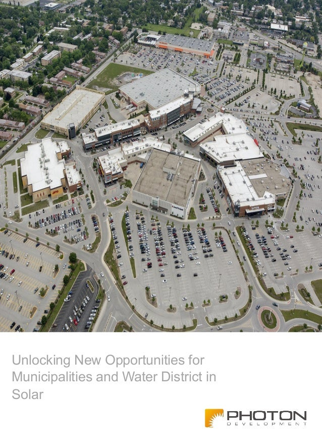 Unlocking New Opportunities for Municipalities and Water District in Solar