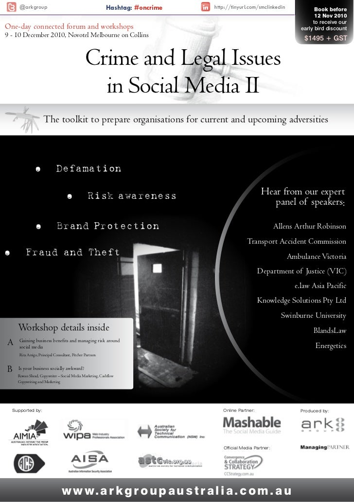 @arkgroup                                             Hashtag: #oncrime   http://tinyurl.com/smclinkedin             Book ...