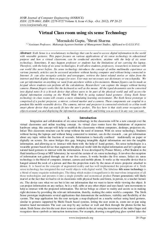 IOSR Journal of Computer Engineering (IOSRJCE) ISSN: 2278-0661, ISBN: 2278-8727 Volume 6, Issue 4 (Sep. -Oct. 2012), PP 20...