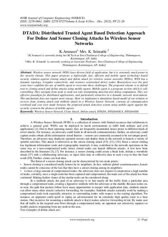 IOSR Journal of Computer Engineering (IOSRJCE) ISSN: 2278-0661, ISBN: 2278-8727Volume 6, Issue 6 (Nov. - Dec. 2012), PP 21...
