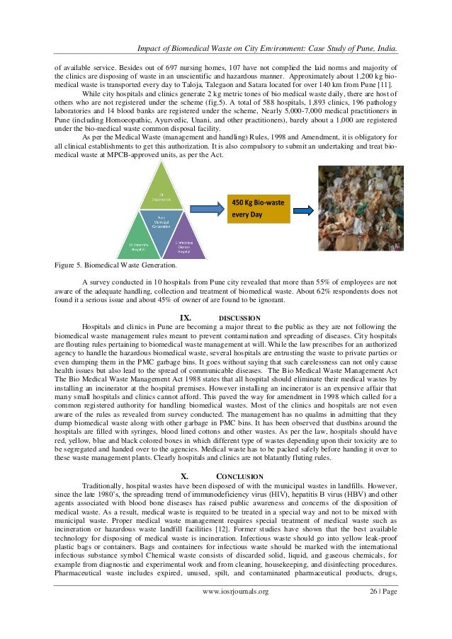 Case Study On Biomedical Waste Management