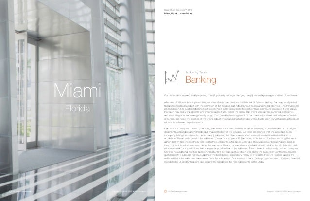 Miami Florida Our team's audit covered multiple years, three (3) property manager changes, two (2) ownership changes and t...