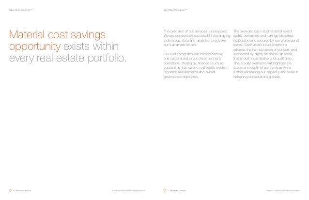 Case Study Synopses™Case Study Synopses™ Material cost savings opportunity exists within every real estate portfolio. The ...