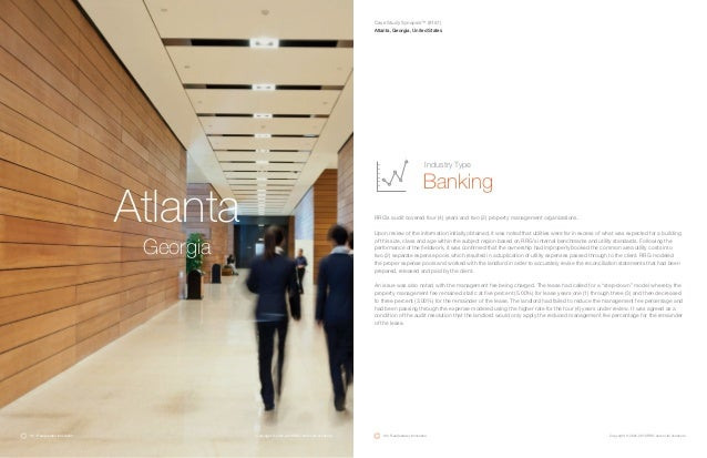 Atlanta Georgia RRG's audit covered four (4) years and two (2) property management organizations. Upon review of the infor...