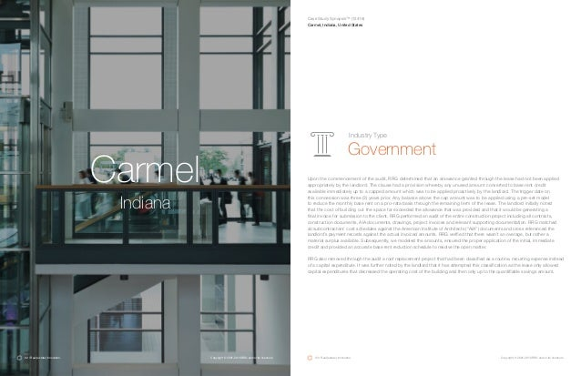 Carmel Indiana Upon the commencement of the audit, RRG determined that an allowance granted through the lease had not been...
