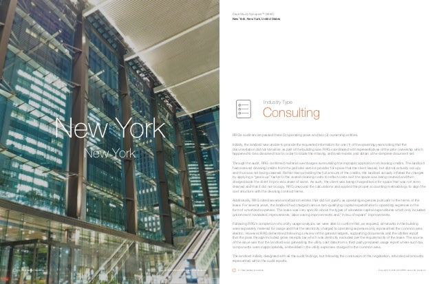 New York New York RRG's audit encompassed three (3) operating years and two (2) ownership entities. Initially, the landlor...