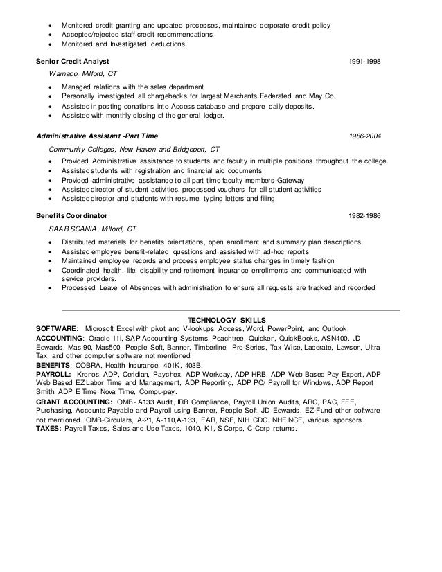 Collection Benefits Coordinator Resume Pictures - career resume ...