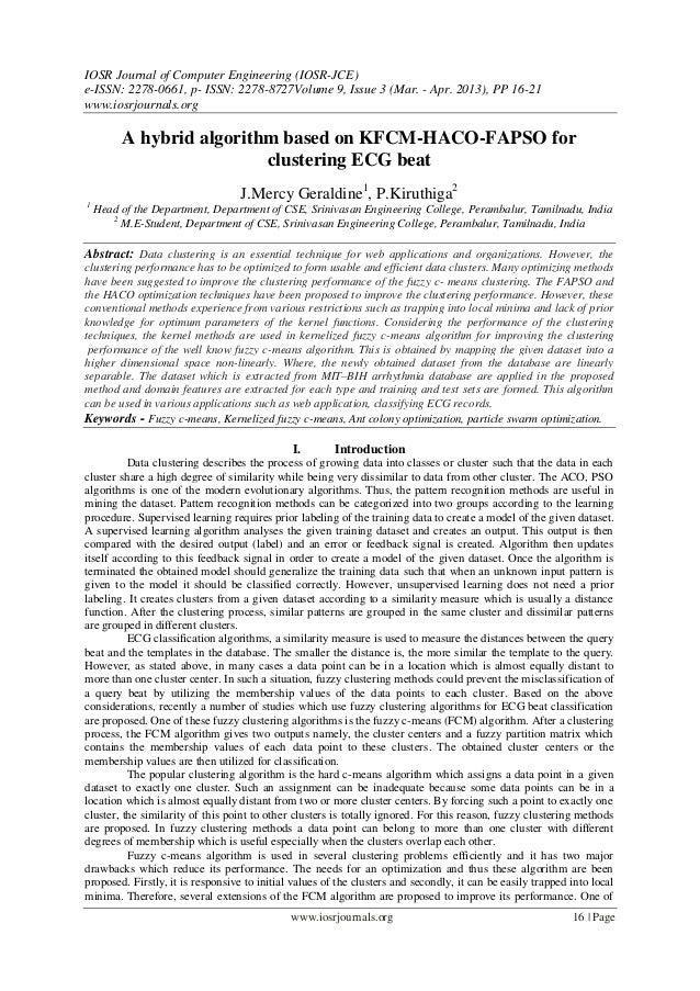 IOSR Journal of Computer Engineering (IOSR-JCE)e-ISSN: 2278-0661, p- ISSN: 2278-8727Volume 9, Issue 3 (Mar. - Apr. 2013), ...