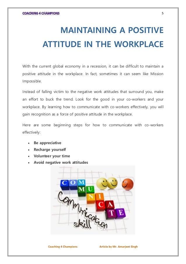 Attitude In Work