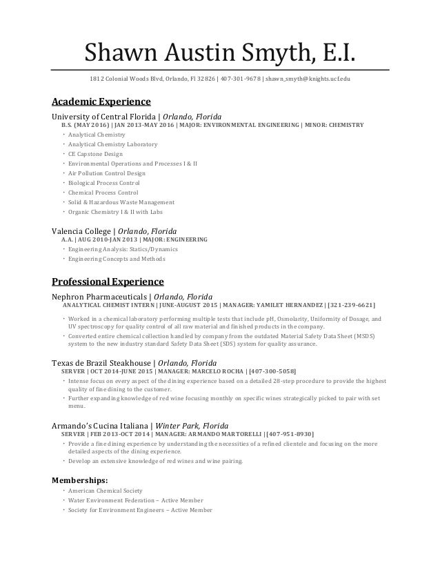 austin smyth resume