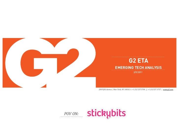 G2 ETA                              EMERGING TECH ANALYSIS                                                     3/9/2011   ...