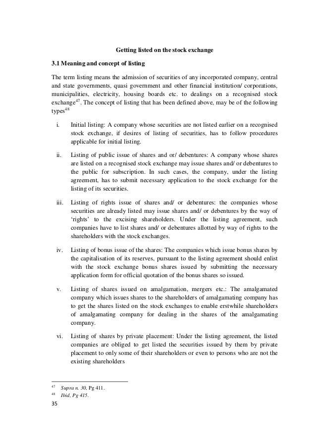 Regulation Of Stock Exchanges In India