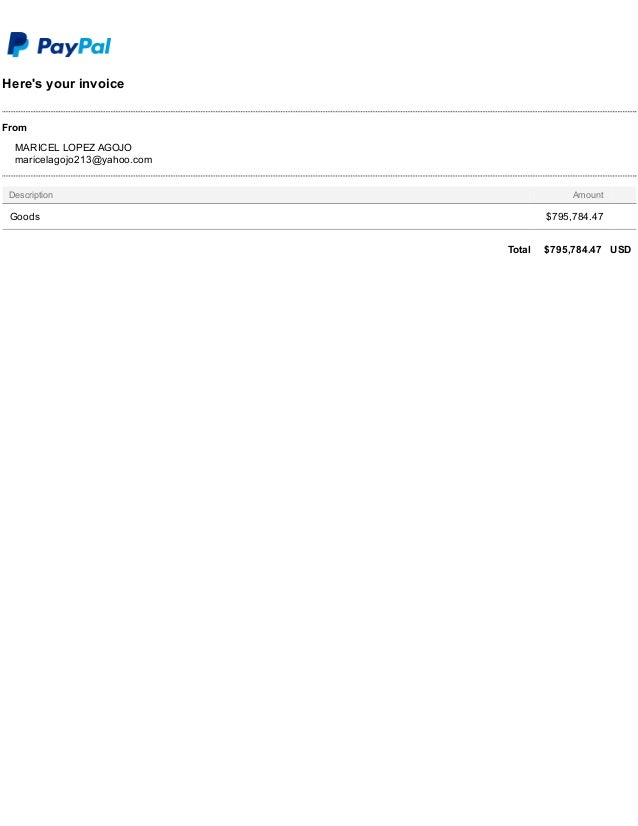 here s your invoice paypal