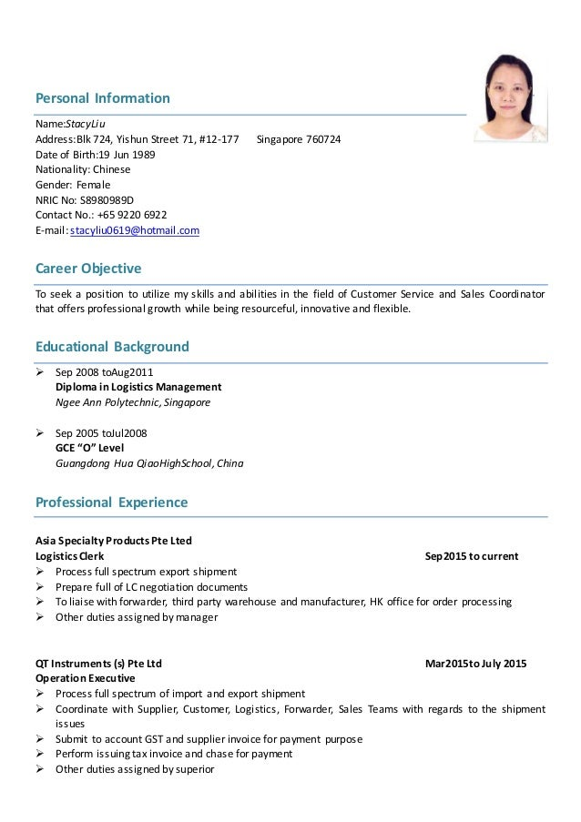 stacy resume