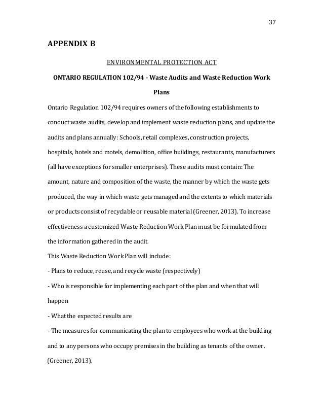 Waste management in construction dissertation