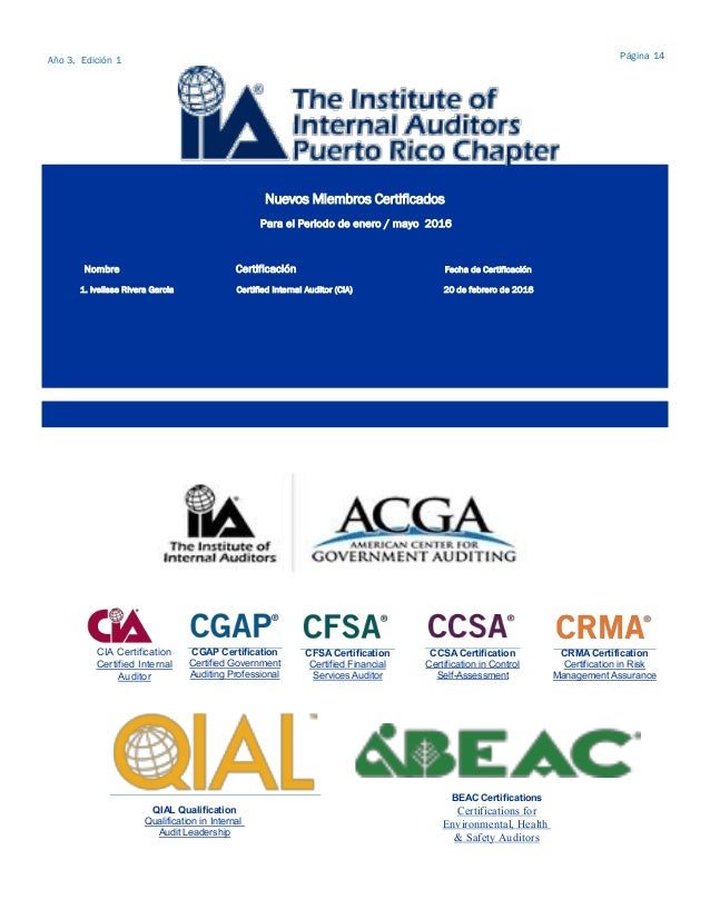 IIAPR-Chapter- Newsletter junio 2016 - agosto 2016 R1