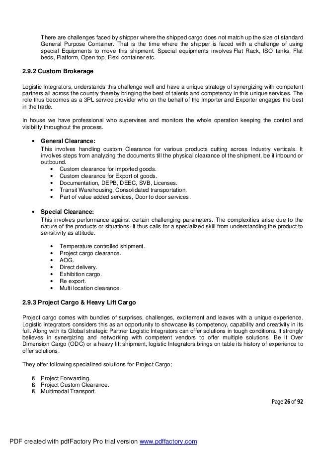 SIP Final Report (Logistic)