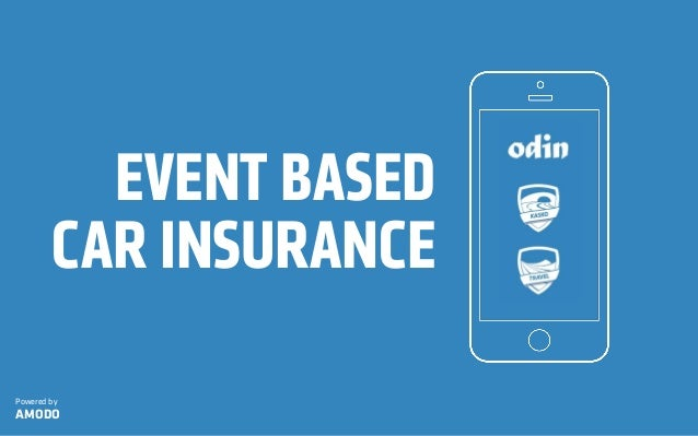 EVENT BASED CAR INSURANCE Powered by AMODO
