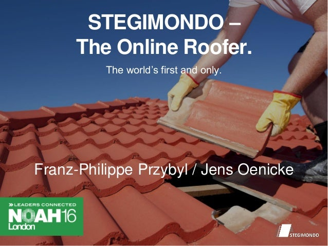 STEGIMONDO – The Online Roofer. The world's first and only. Franz-Philippe Przybyl / Jens Oenicke