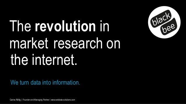 Carina Röllig | Founder and Managing Partner | www.webdata-solutions.com We turn data into information. The revolution in ...