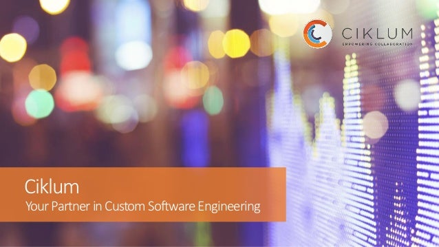 Ciklum YourPartnerinCustomSoftwareEngineering
