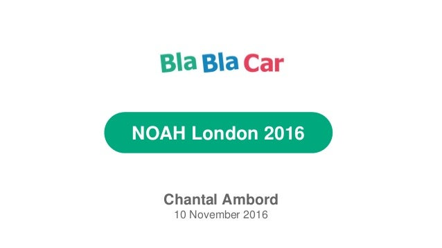 NOAH London 2016 Chantal Ambord 10 November 2016