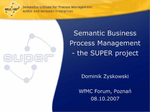 D1 9   Semantic Business Process Management
